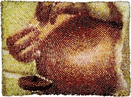 Вышивка бисером круговая зашивка