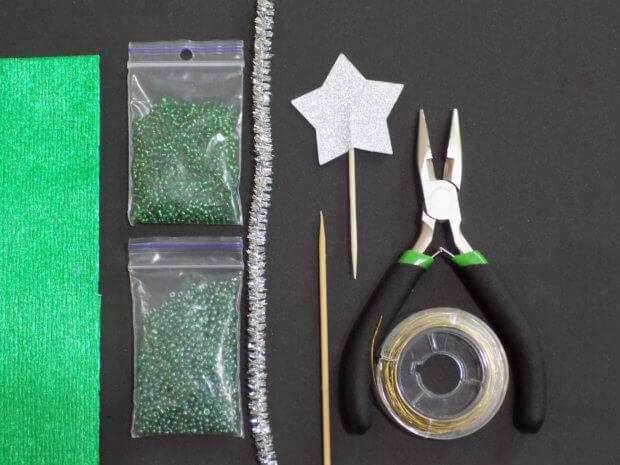 Материалы для елочки из бисера