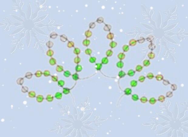 Схема плетения новогодней елочки из бисера
